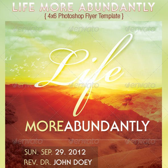 Life More Abundantly Church Flyer Template