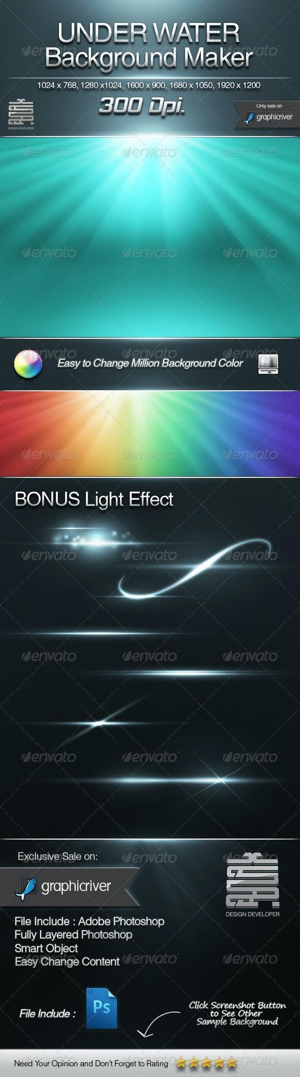 UNDER WATER Background maker & Bonus Light Effect - Backgrounds Graphics