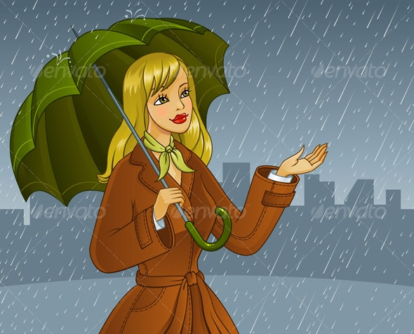 Rainy day - People Characters