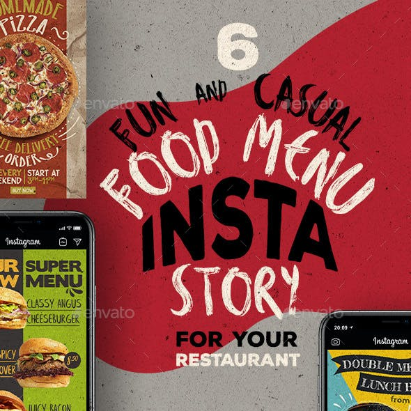 Fun Casual Food Menu Instagram Stories