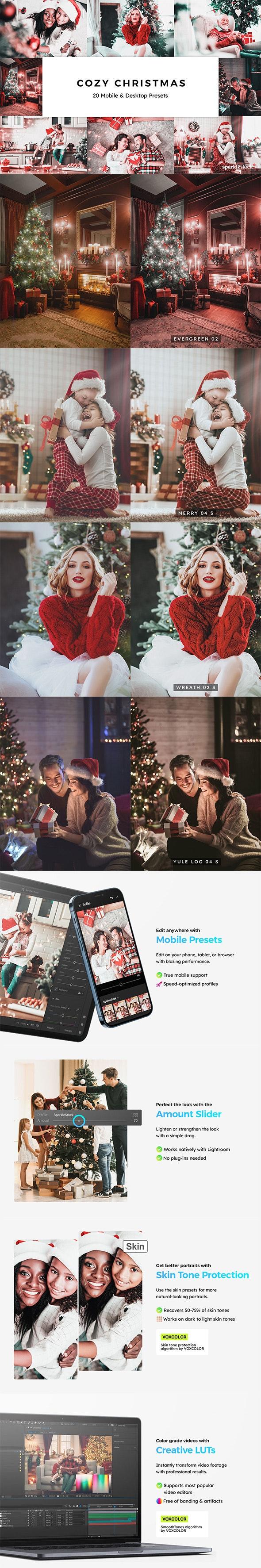 20 Cozy Christmas Lightroom Presets & LUTs - Lightroom Presets Add-ons