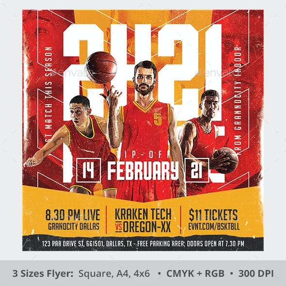 College Basketball Flyer