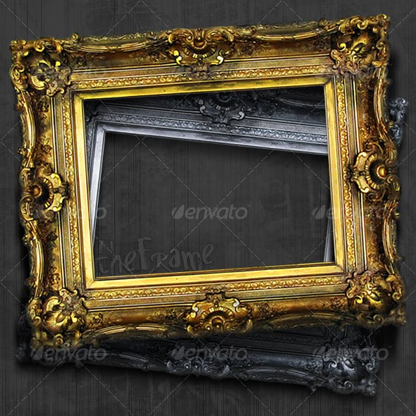 Antique Picture Frame Hi-Res