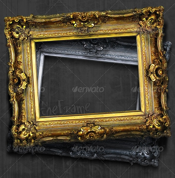 Antique Picture Frame Hi-Res - Home & Office Isolated Objects