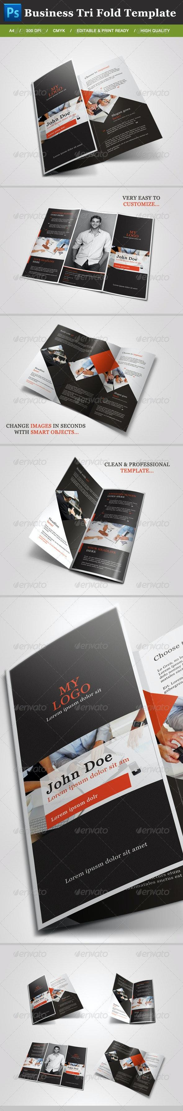 Business Tri Fold Brochure - Brochures Print Templates