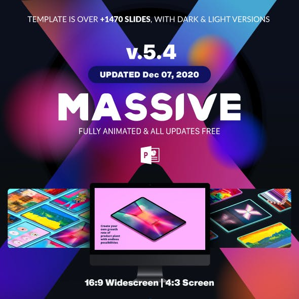 Massive X Presentation Template v.5.4 Fully Animated