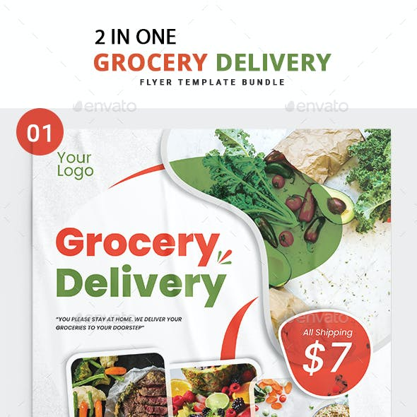 Grocery Delivery Flyer Bundle