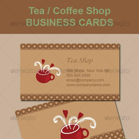 Tea / Coffee Shop Business Card