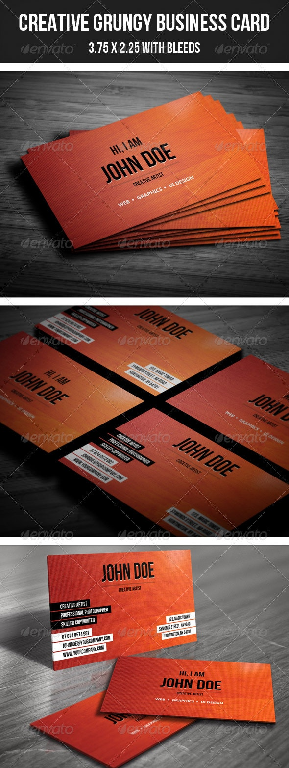 Creative Grungy Business Card - 26 - Grunge Business Cards