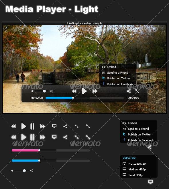 Media Player - Light - Web Elements