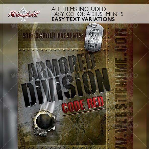 Vintage Military Armored Flyer Template