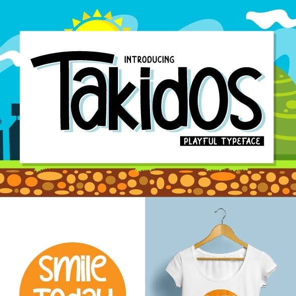 Takidos - Playful Typeface