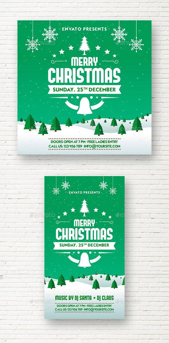Christmas  Party Social Media Template - Social Media Web Elements