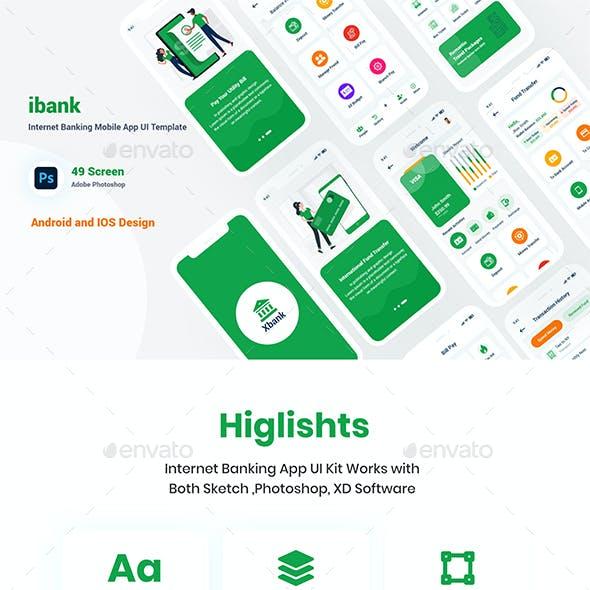 Internet Banking Mobile App UI Template