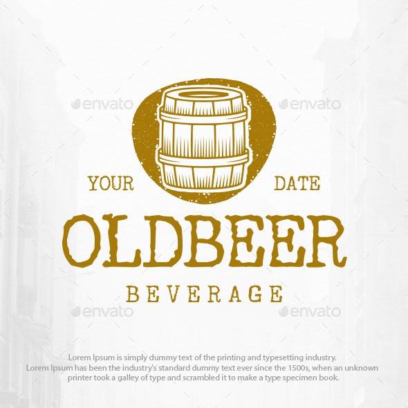 Old Beer Barrel Logo Template