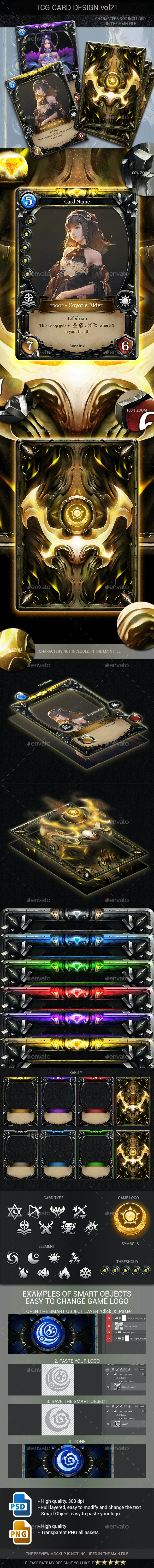 TCG Card Design Vol 21 - Miscellaneous Game Assets