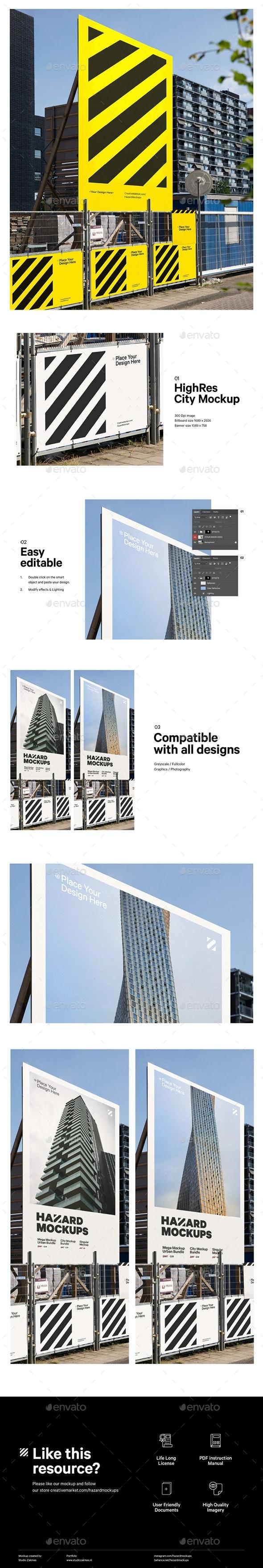 City Construction Mockup - Posters Print