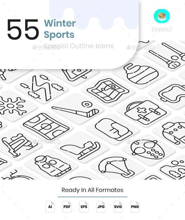 Winter Sport Icons - Seasonal Icons