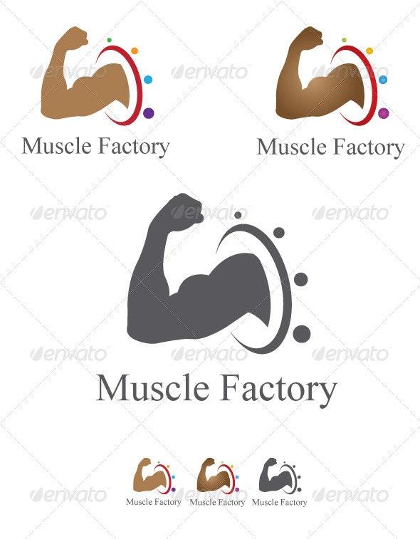 Muscle Factory Logo Design - Humans Logo Templates