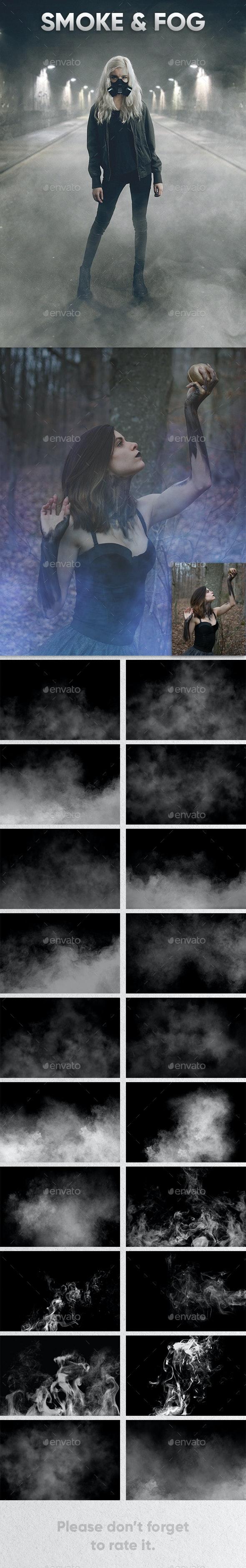 Smoke & Fog Overlays - Nature Photo Templates