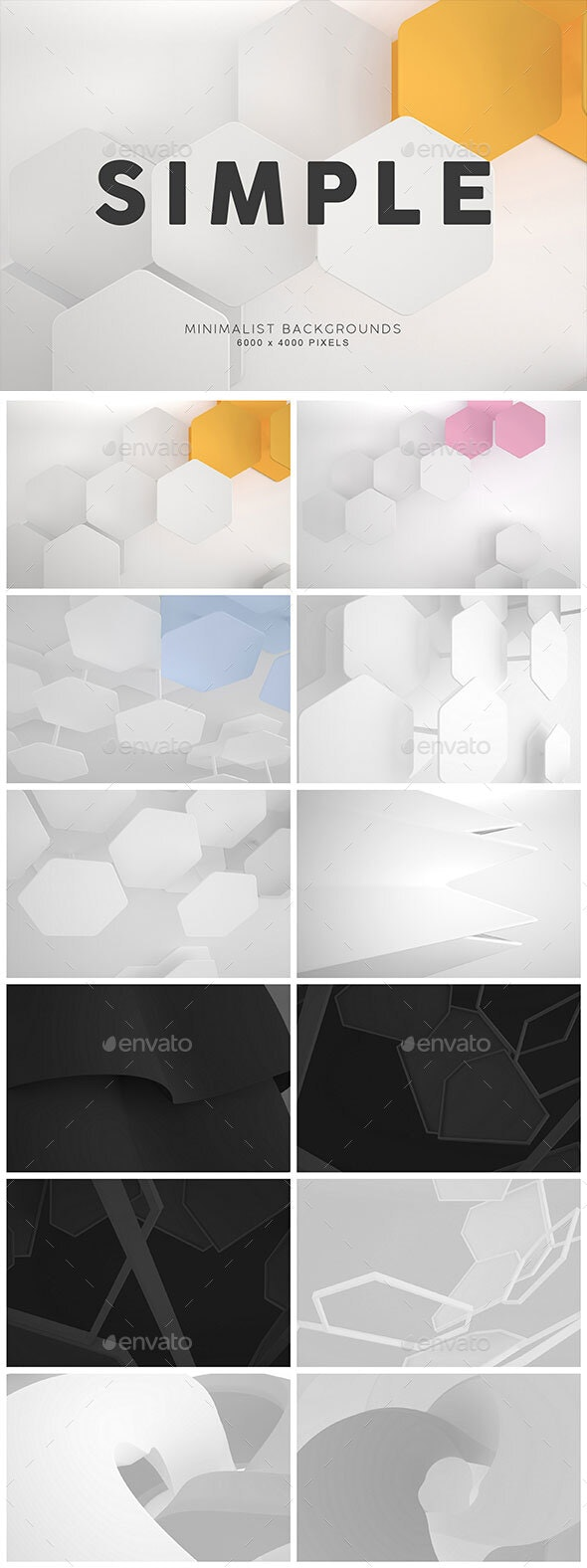 Simple Shape Backgrounds 1 - 3D Backgrounds