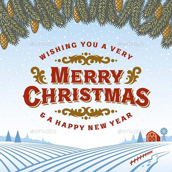 Vintage Merry Christmas Greeting Card - Christmas Seasons/Holidays