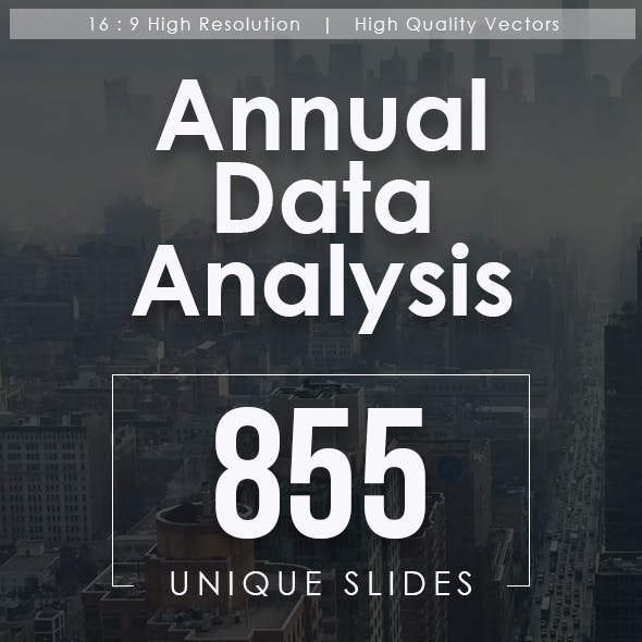 Annual Data Report Keynote Templates Bundle