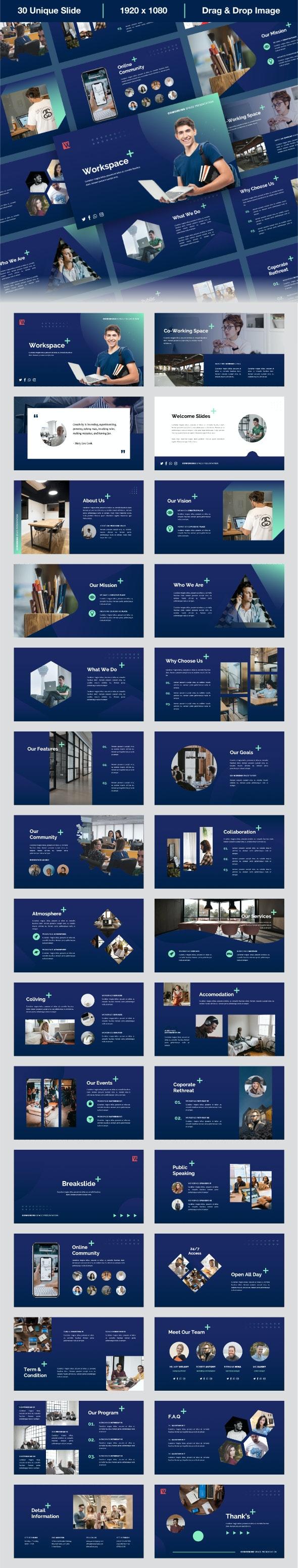 Workspace - Coworking Space Keynote Presentation Templates - Business Keynote Templates