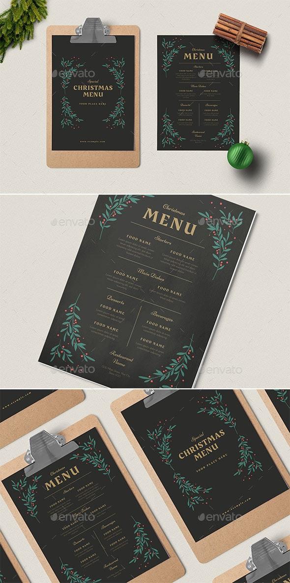 Special Christmas Menus - Restaurant Flyers