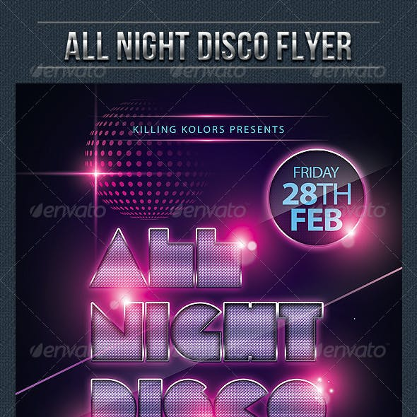 All Night Disco Flyer