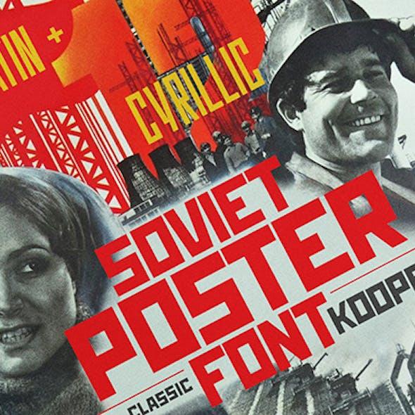 KOOPERATIV Soviet poster font