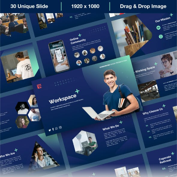 Workspace - Coworking Space PowerPoint Presentation Templates