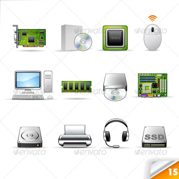 icon set n°15 - computer theme - infinity series