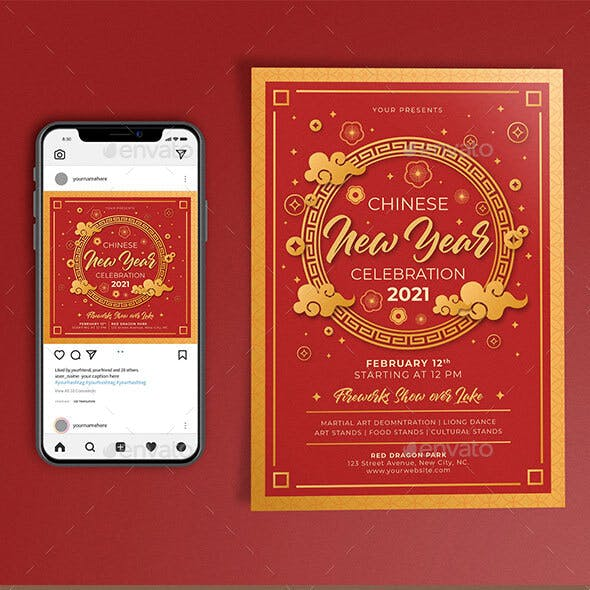 Chinese New Year Template Set