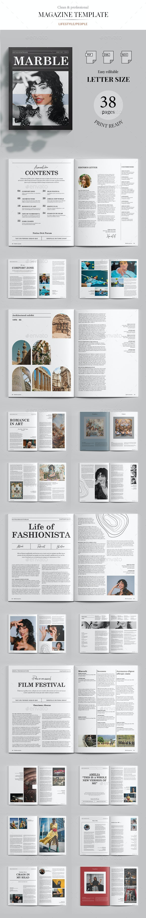 Marble Magazine - Magazines Print Templates