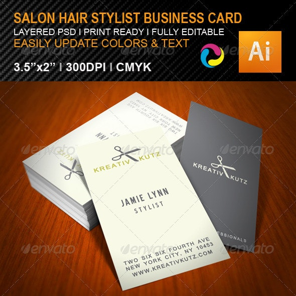 Hair Salon Business Card - Industry Specific Business Cards