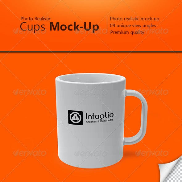 Photo-realistic Cups Mock-Up
