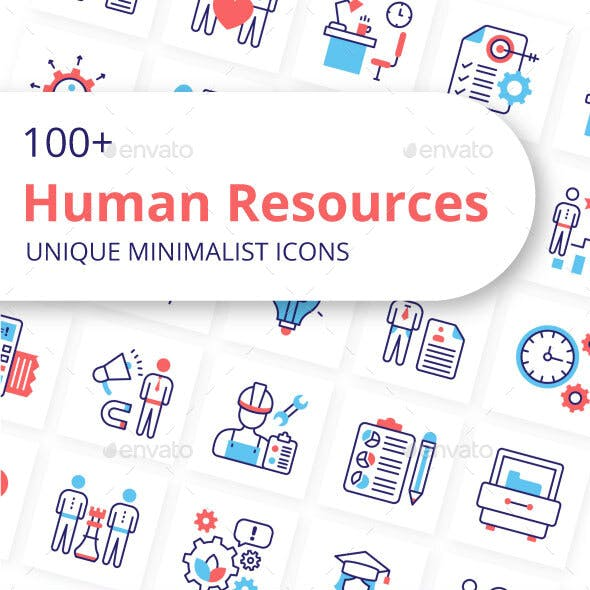 Human Resources Unique Minimalist Icons