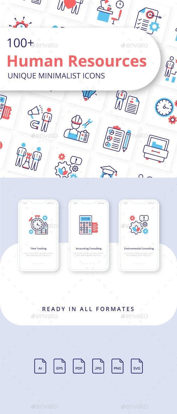 Human Resources Unique Minimalist Icons - Business Icons