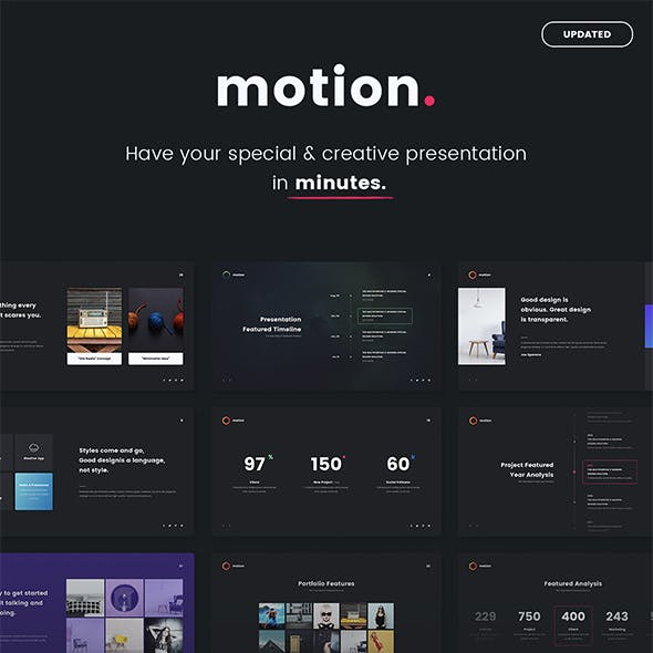 MOTION - Fully Animated & Multipurpose Template (Powepoint)