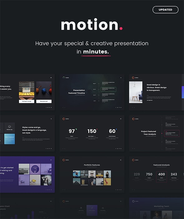 MOTION - Fully Animated & Multipurpose Template (Powepoint) - Creative PowerPoint Templates