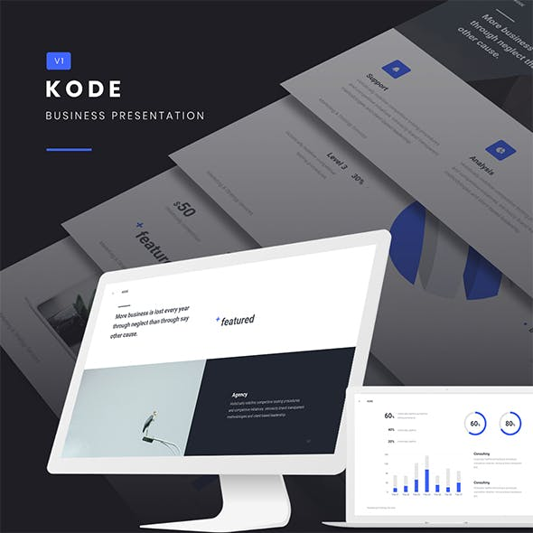 KODE - Business & Fully Animated Template (PPTX)