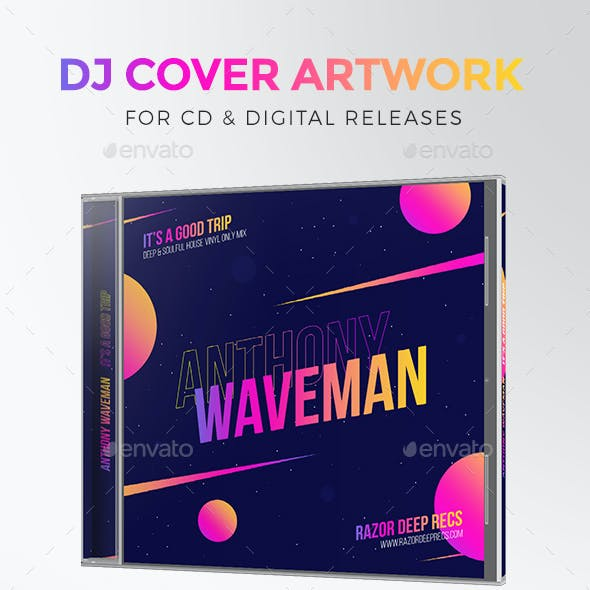 DJ Mix / Podcast CD Cover Artwork Template