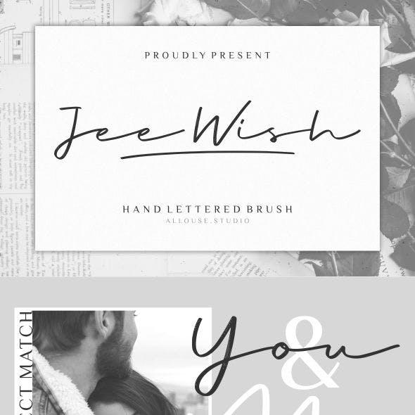 Jee Wish | Handlettered Brush