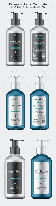 Cosmetic Label - Liquid Soap - Packaging Print Templates