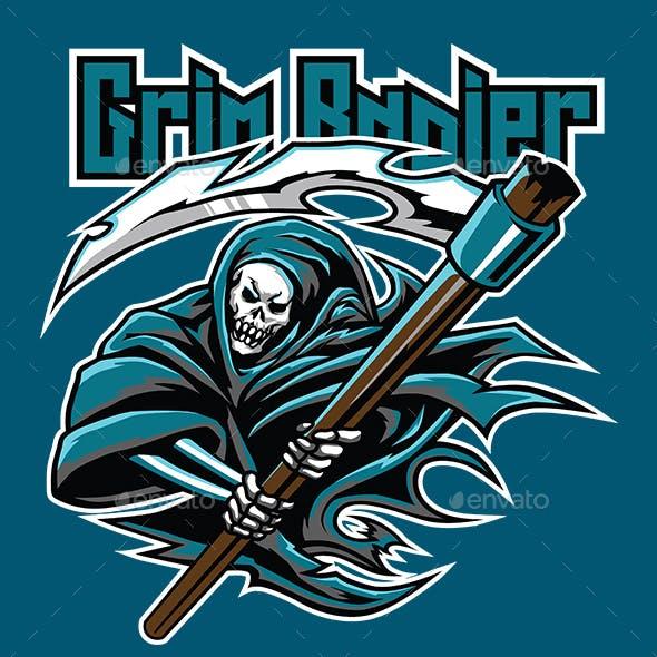 Grim Rapier Esport Logo Gaming template