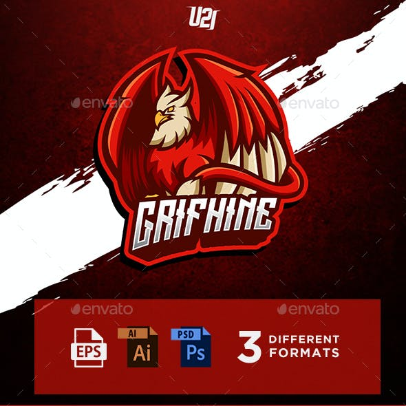 Grifhine Gaming Mascot For Esports