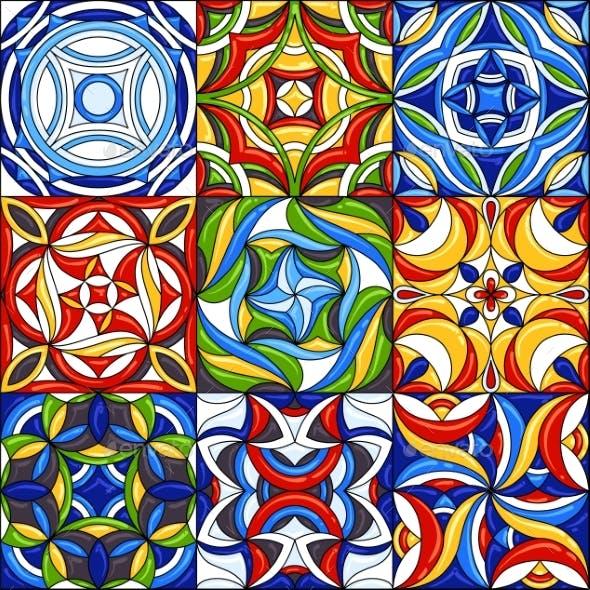 Set of Ceramic Tile Patterns. Gorgeous Seamless