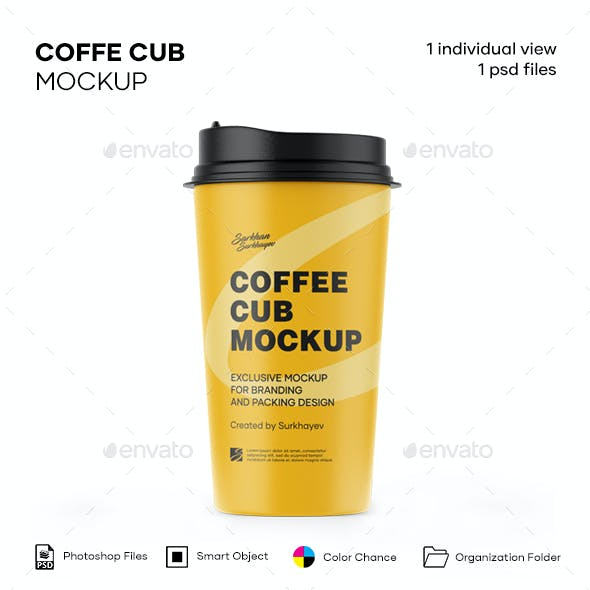 Matte Coffee Cup Mockup.