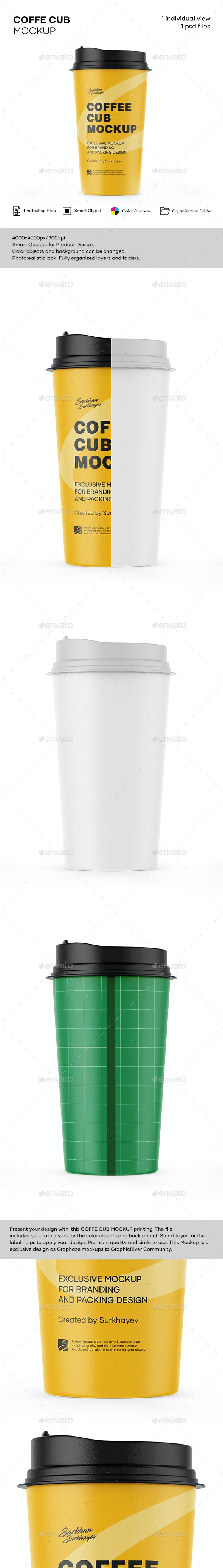 Matte Coffee Cup Mockup. - Product Mock-Ups Graphics